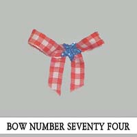 Bow Number Seventy Four