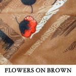 Flowers on Brown