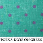 Polka Dots on Green