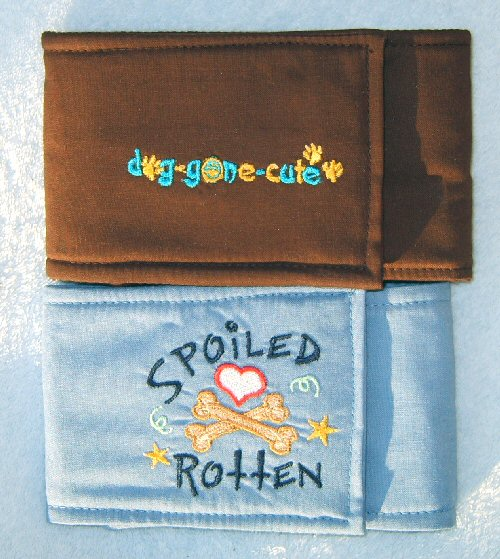 Dog Gone Cute and Spoiled Rotten Embroidered Belly Bands