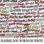 Flannel Dog Words on White..TWO S**ONE L