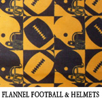 Flannel Football & Helmets