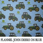 Flannel John Deere on Blue