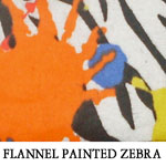 Flannel Painted Zebra