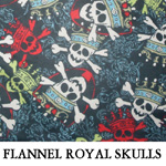 Flannel Royal Skulls..TWO XS