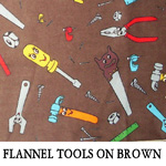 Flannel Tools on Brown