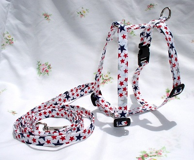 patriotic stars harness and leash