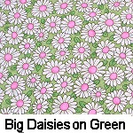 Big Daisies on Green