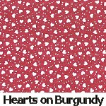 Hearts on Burgundy