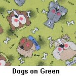 Dogs on Green