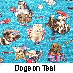 Dogs on Teal
