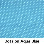 dots on aqua blue