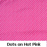 dots on hot pink