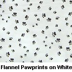 Flannel Pawprints on White