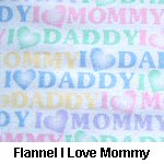 Flannel I Love Mommy