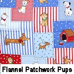 Flannel Patchwork Pups