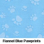 Flannel Blue Paw Prints