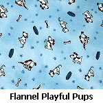 Flannel Playful Pups