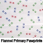 Flannel Primary Pawprints