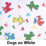 Dogs on White