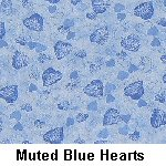 Muted Blue Hearts