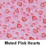 Muted Pink Hearts