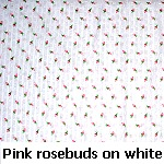 pink rosebuds on white