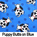 Puppy Butts on Blue