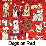 Dogs on Red