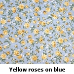 yellow roses on blue background