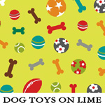 Dog Toys on Lime