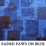 Faded Paws on Blue