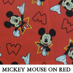 Mickey Mouse on Red