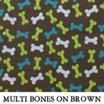 Multi Paws Bones on Brown