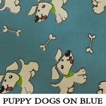 Puppy Dogs on Blue
