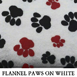 Flannel Paws on White