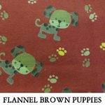 Flannel Brown Puppies