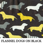 Flannel Dogs on Black