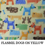 Flannel Dogs on Yellow