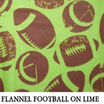 Flannel Football on Lime