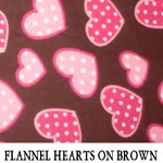 Flannel Hearts on Brown