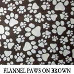 Flannel Paws on Brown