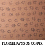 Flannel Paws on Copper