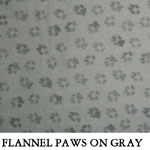 Flannel Paws on Gray
