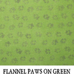 Flannel Paws on Green