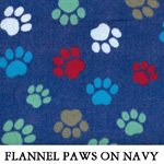 Flannel Paws on Navy