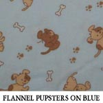 Flannel Pupsters on Blue
